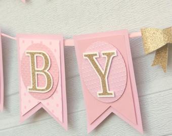 baby girl banner etsy