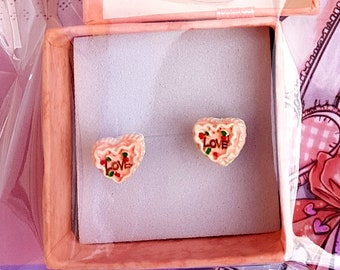 LIMITED edition kawaii cookie cake stud earring pairs + gift box! 10 UNIQUE DESIGNS