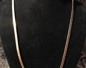 "24"" Vintage gold-tone necklace"