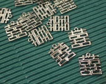 100 Stk Charms Anhänger DIY Halskette Kette Charms Hufeisen 13mm x 12mm HS