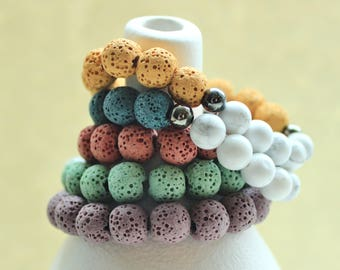 Colorful Diffuser Bracelet, Aromatherapy, Essential Oil, Gifts for Her, Teacher, Best Friend, Teacher Gift, Christmas Gift, Stocking Stuffer