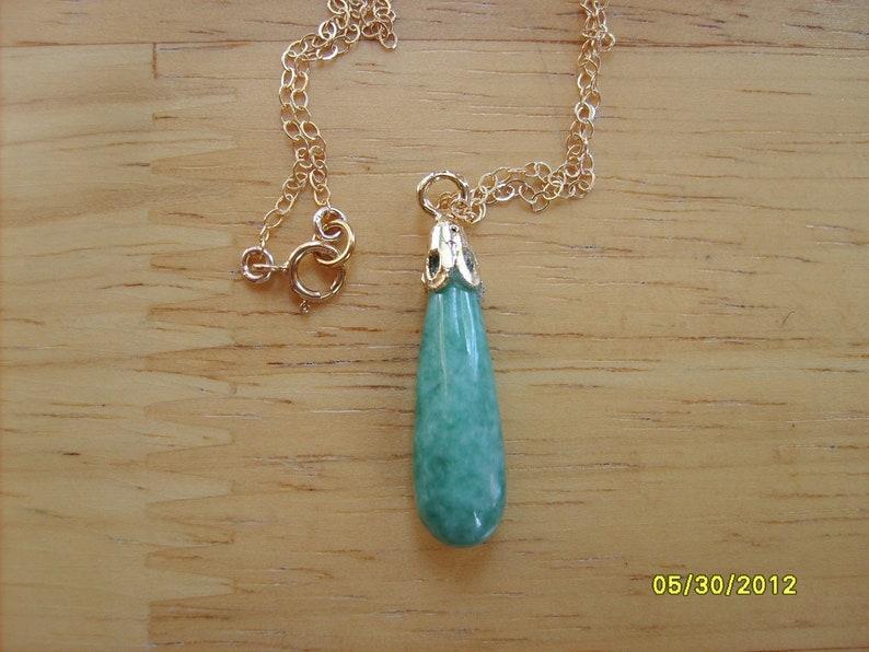 45b75b5d4e5daa Jade Necklace Teardrop Pendant Necklace Chinese Jade   Etsy