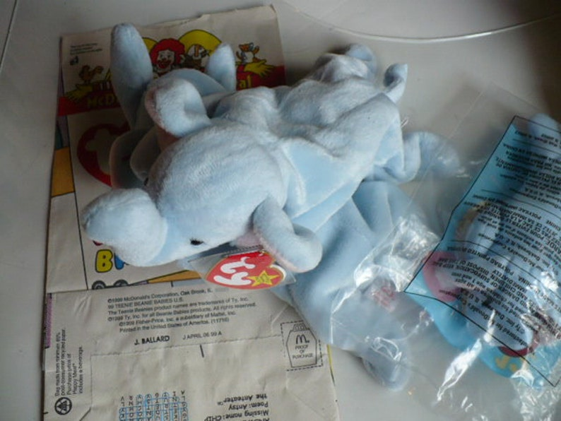 5dd74af37a4 Elephant Stuffed Animal Zoo Peanut Ty Beanie Babies Soft