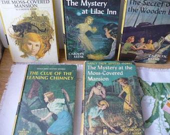Nancy Drew, Carolyn Keene, Old Books, Gift for Daughter
