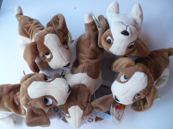 Basset Hound Dog Stuffed Animal Ty Beanie Babies Never Etsy