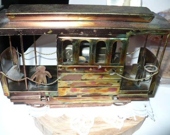 Gift For Him, Music Box, Copper Music Box, Anniversary Gift, Gift For Dad, Trolley Car, I Left My Heart In San Francisco, Housewarming Gift