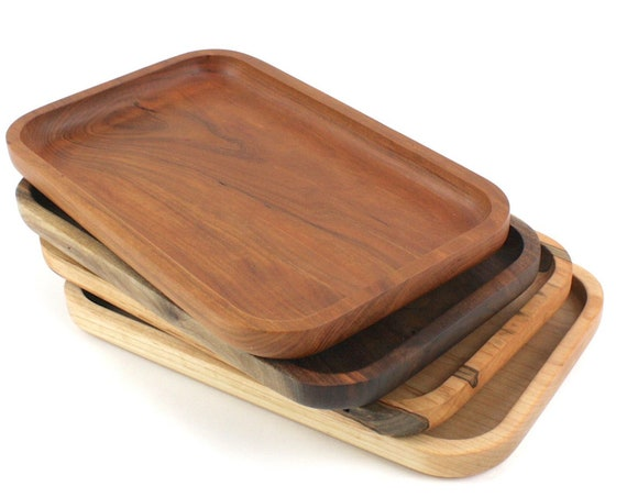 Wooden Valet Tray, Jewelry Tray, Display Tray, Trinket Tray, Serving Tray, Catch All Tray, Food Safe, Café Tray