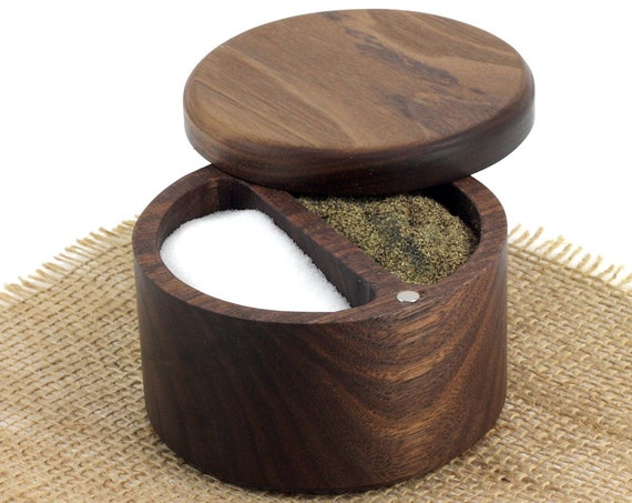 Wooden Salt and Pepper Box/Cellar, Spice Box, Wooden Spice Bowl, Rustic Cellar, Kitchen decor, Salt keeper