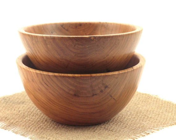 A Set of Wooden Cherry Bowls / Candy Dish