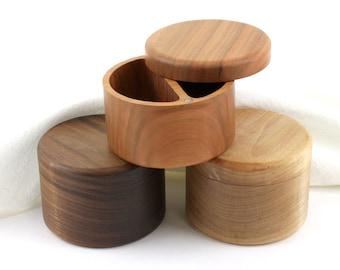 Wooden Salt and Pepper Box/Cellar, Spice Box, Wooden Spice Bowl, Rustic Cellar, Kitchen decor, Salt keeper