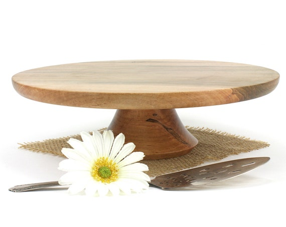 "12 1/2"" Ambrosia Maple Cake Stand,  Pedestal Cake Plate, Wedding Cake Stand,Dessert Pedestal, Hostess and Gourmet"