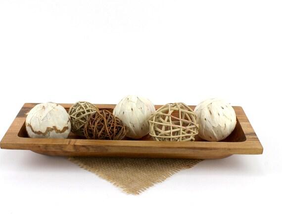 "15 1/2"" Mini Dough Bowl, Ambrosia Maple Dough Bowl, Serving Dish, Centerpiece, Wood Trecher"