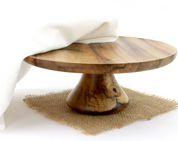 """10 7/8"""" Sweet Gum Cake Stand,  Pedestal Cake Plate, Wedding Cake Stand,Dessert Pedestal,Grooms cake stand, Hostess and Gourmet"""