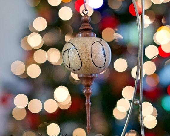 Christmas Tree Ornament, Hand Turned, Christmas Decorations, Wooden Ornament, Christmas Ornament, Seasonal Gift