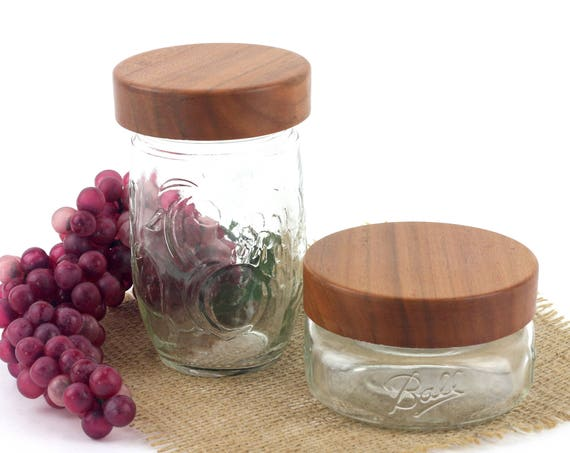 Wooden  Mason Jar Lids, Wood Lids For Ball Mason Jars, Stash Jar Covers