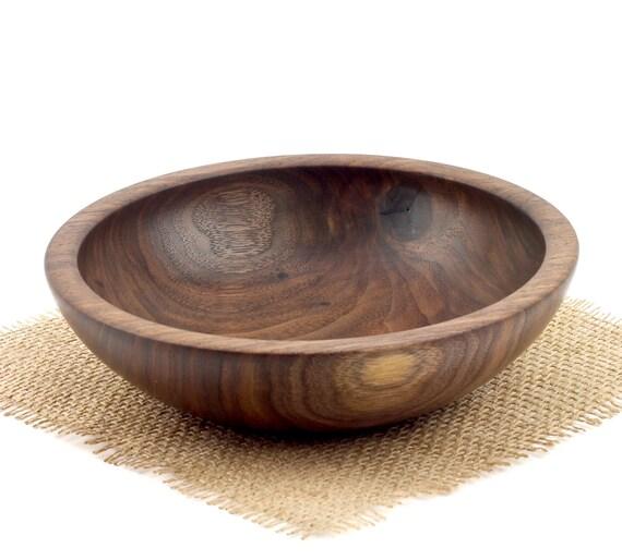 Wooden Walnut Bowl /  Candy Dish / Wood Fruit Bowl