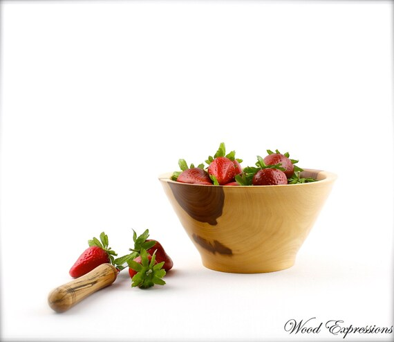 "7""  Wooden Elm Bowl / Berry or Fruit Bowl"