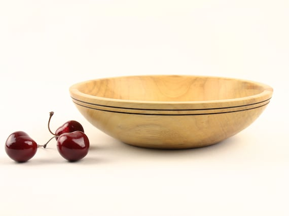 Wooden Elm Bowl 8 1/4 inch Dish