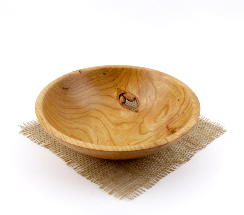 Fruit Bowl Candy Dish Wooden Cherry Bowl