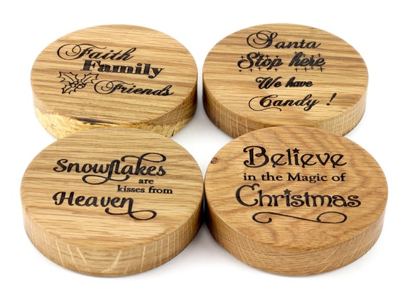 Wooden Christmas Mason Jar Lids, Wood WIDE MOUTH Lids For Ball Mason Jars, Christmas Gifts