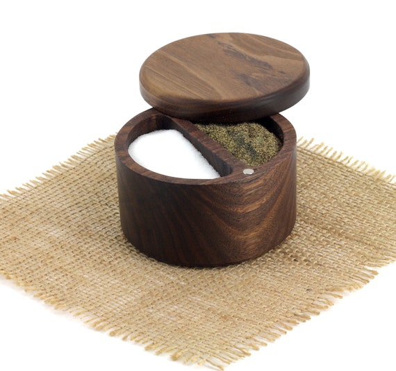 Wooden Salt and Pepper Box/Cellar, Spice Box, Wooden Spice Bowl, Rustic Cellar, Kitchen decor