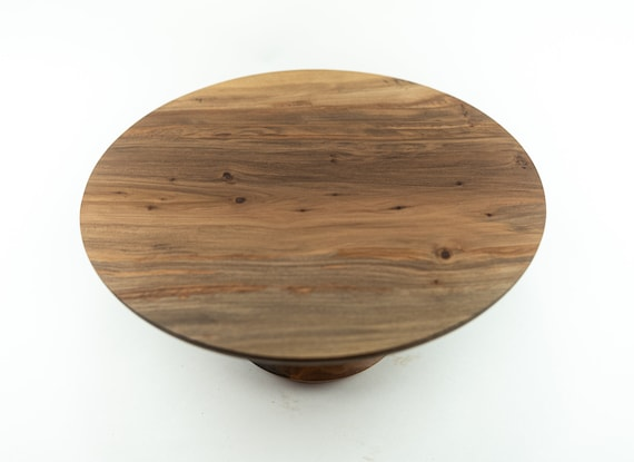"""11 1/2"""" Wooden Cake Stand, Groom's cake stand, Sweet Gum Cake Stand, Wooden Pedestal Cake Plate, Cupcake Stand"""
