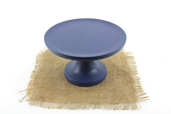 Blue Petite Cupcake Stand, Pedestal Cake stand/ Pedestal Dessert Plate