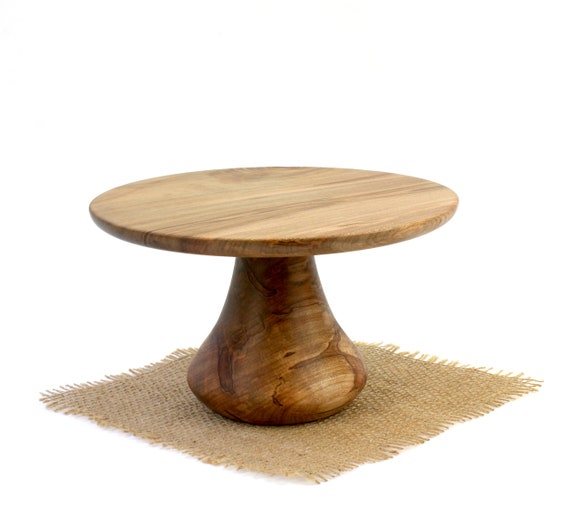 "8 1/2"" Ambrosia Maple Cake Stand,  Pedestal Cake Plate, Wedding Cake Stand,Dessert Pedestal, Hostess and Gourmet"