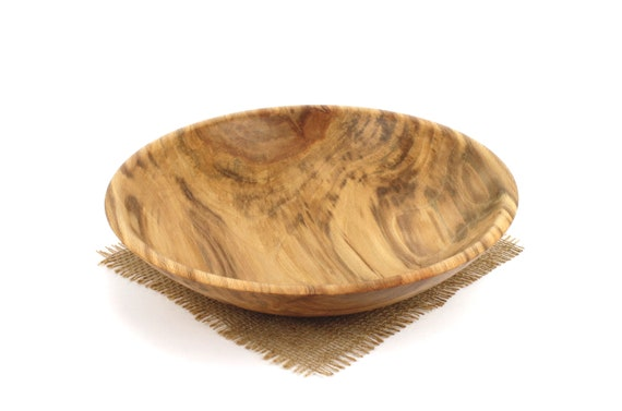 Wooden Sycamore Bowl, Salad Bowl, Wooden Serving Dish, Pasta Bowl