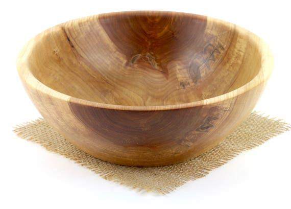 Wooden Bowl, Wooden Black Birch Salad Bowl, Fruit Bowl, Centerpiece, Wooden Serving Dish