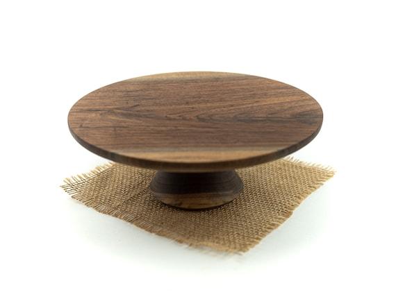 """9 7/8""""walnut cake stand / Pedestal Cake Plate / Cupcake Stand"""