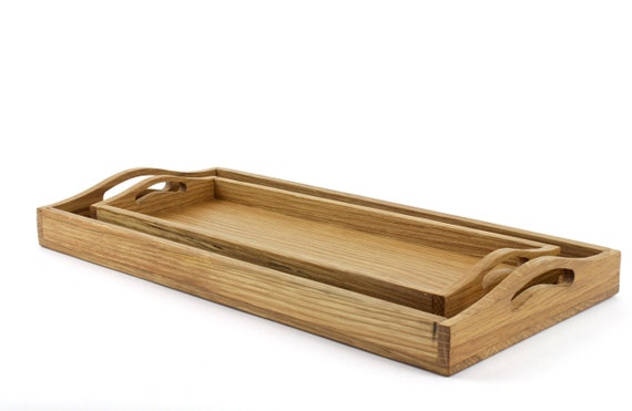 Rustic Serving Tray with Handles, Wooden Serving Tray, Farmhouse Serving  Tray, Centerpiece, Decorative tray