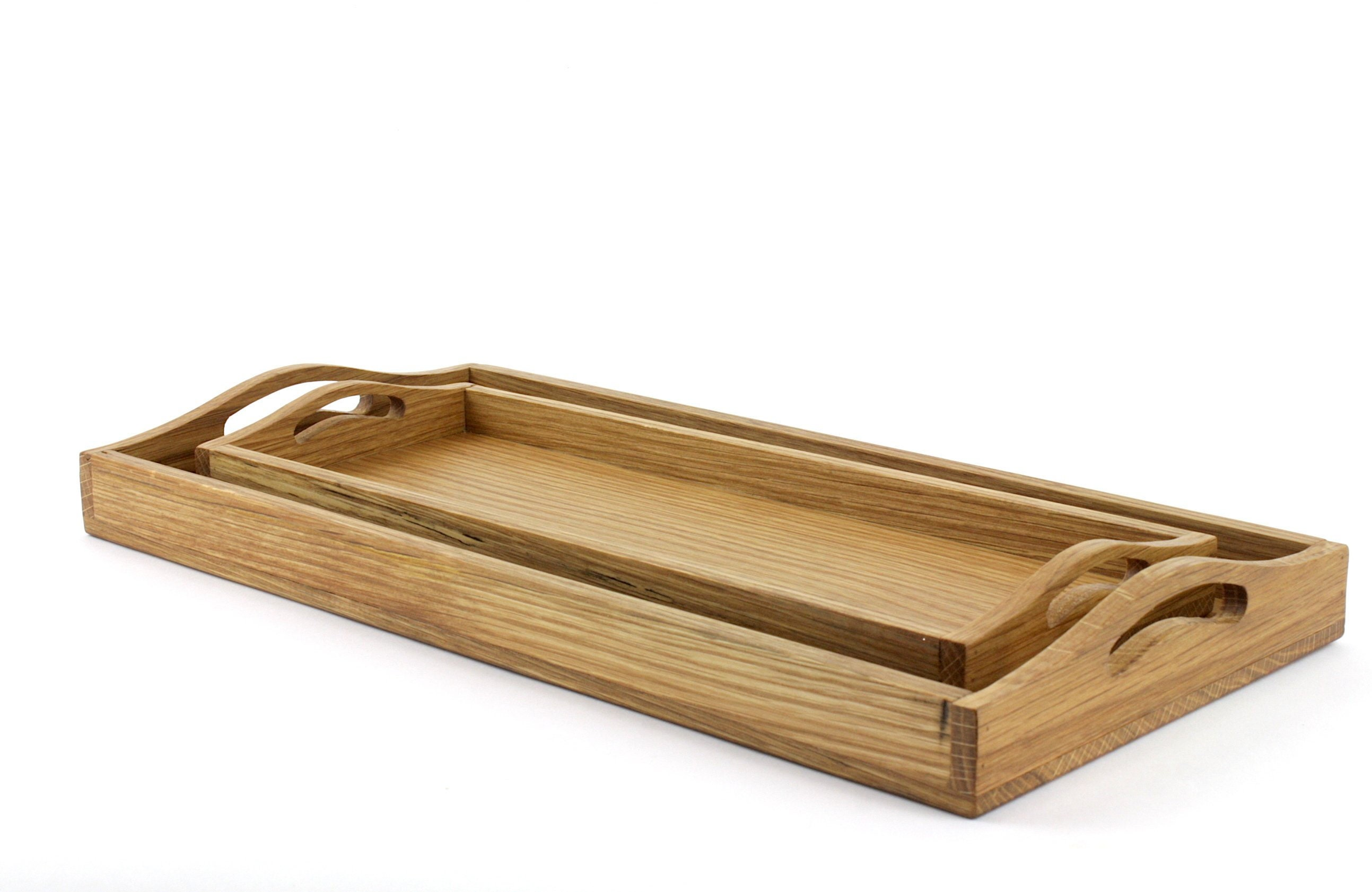 Rustic Serving Tray With Handles Wooden Serving Tray Farmhouse Serving Tray Centerpiece Decorative Tray