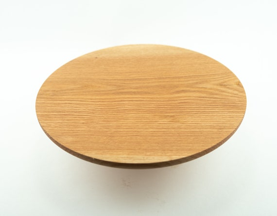"""13"""" Wooden Red Oak Cake Stand Pedestal / Cake Plate / Cupcake Stand"""