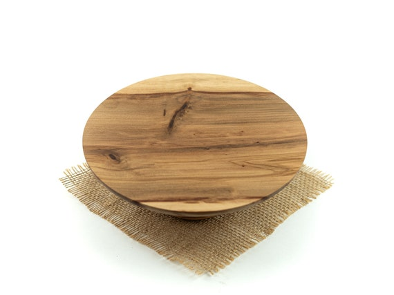 9.25 inch Wooden Cake Stand, Groom's cake stand, Sweet GumCake Stand ,Wooden Pedestal Cake Plate ,Cupcake Stand