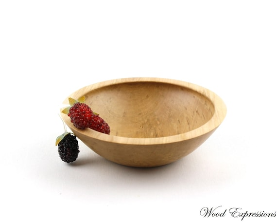 "Wooden Sweet Gum Bowl/ 6 1/2"" wooden dish"