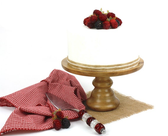 "9"" Sweet Gum Cake Stand, Turned Wood Cake Platter, Cake Pedestal, Wedding Cake Stand, Cupcake Stand, Dessert Pedestal, Hostess and Gourmet"