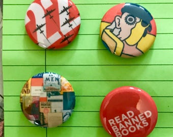 Banned Books pins or magnets - Volume 2