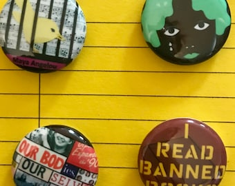 Banned Books pins or magnets - Volume 1