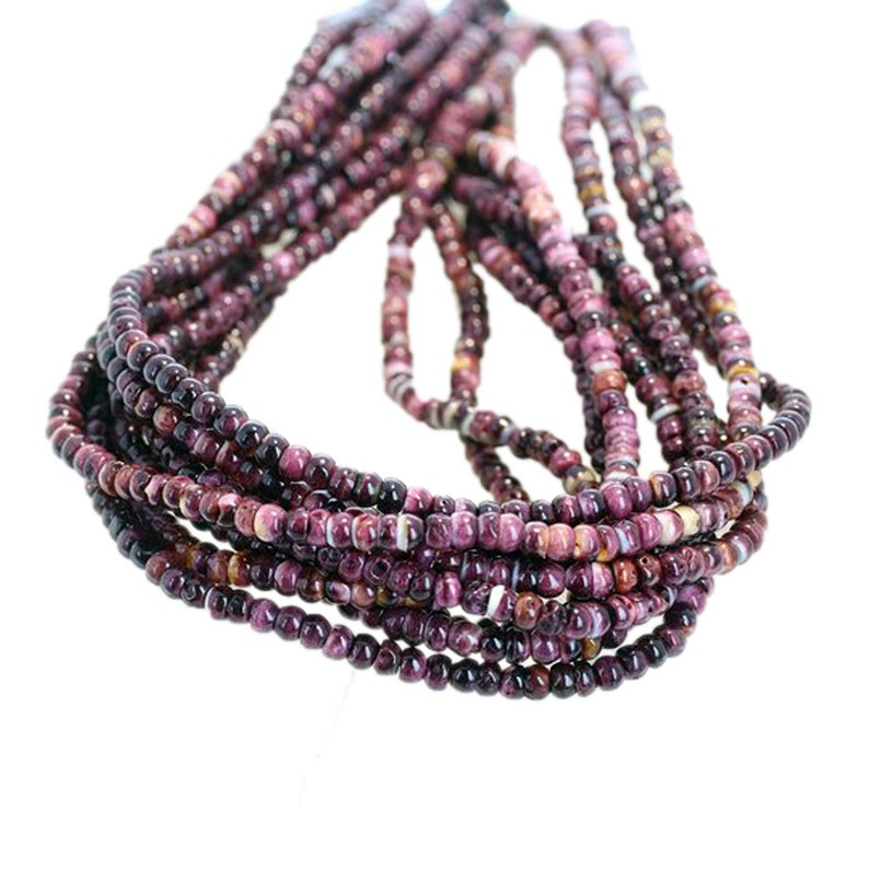 "PURPLE SPINY OYSTER Beads Rondelles 10mm 16/""*NewWorldGems"