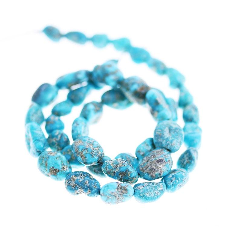 BLUE RIDGE ORVIL Jack Turquoise Beads Potato Shape