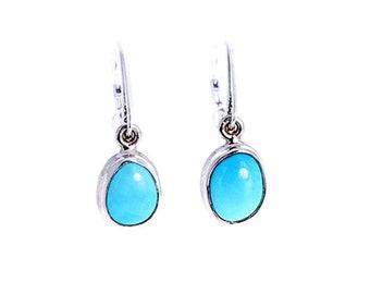 SLEEPING BEAUTY Turquoise Earrings AAA Sky Blue Sterling  NewWorldGems