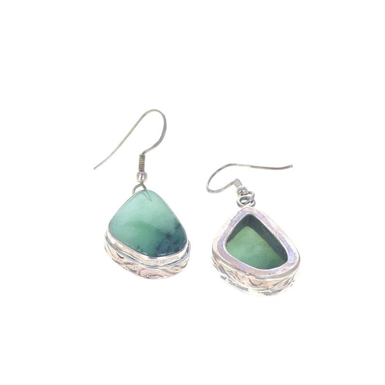 Green Zoisite Sterling Silver Earrings #3