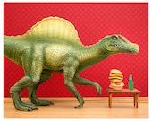2 FOR 1 SALE - Dinosaur decor: Dino Burger