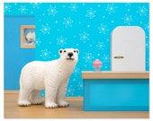 2 FOR 1 SALE - Polar bear animal art print: Some Like It Cold