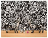 2 FOR 1 SALE - Zebra stripes wall art print: Stripes