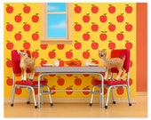 2 FOR 1 SALE - Retro kitchen animal art print with fawns: Fawning