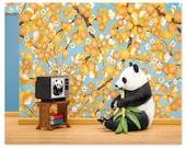 2 FOR 1 SALE - Panda animal art print: Animal Planet