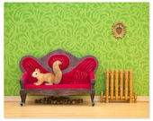 2 FOR 1 SALE - Squirrel woodland animal print