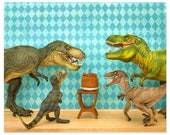2 FOR 1 SALE - Dinosaur decor, T. rex birthday party: Raging Party